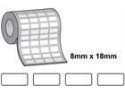 Tamper evident labels, 8mm x 18mm