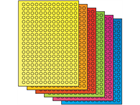 Fluorescent paper labels, 10mm diameter