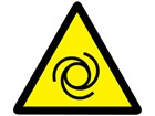 Automatic start warning symbol label.