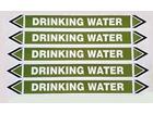 Drinking water flow marker label.
