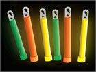 Safety light sticks, mixed colours.