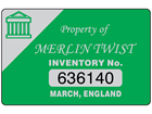 Assetmark serial number label (logo / full design), 32mm x 50mm