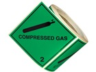 Compressed gas, class 2, hazard diamond label