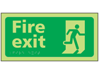 Fire exit photoluminescent sign.