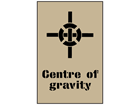 Centre of gravity stencil