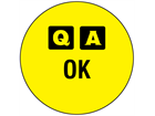 QA OK label