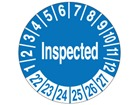 Inspected month and year label