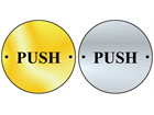 Push symbol door sign.