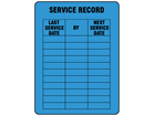 Service record label