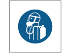Use breathing apparatus symbol safety sign.