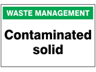Contaminated solid sign.