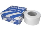White plain barrier tape.