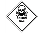 Poison gas hazard warning diamond sign