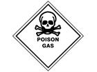 Poison gas hazard warning diamond sign