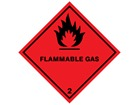 Flammable gas symbol, class 2, hazard diamond label