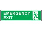 Emergency exit, symbol facing left safety sign.