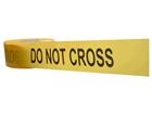 Do not cross barrier tape