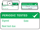 Periodic tested write and seal labels.