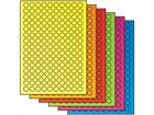 Fluorescent paper labels, 15mm diameter