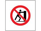 No pushing symbol safety sign.