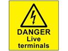 Danger live terminals label