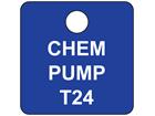 Custom engraved tag, 25mm x 25mm, three line text