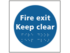 Fire door Keep clear sign.
