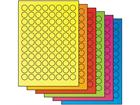 Fluorescent paper labels, 20mm diameter