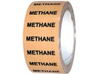 Methane pipeline identification tape.