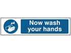 Now wash your hands, mini safety sign.
