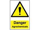 Danger, Agrochemicals safety sign.
