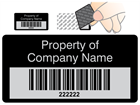 Scanmark tamper barcode label (text on colour), 19mm x 38mm