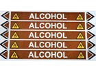 Alcohol flow marker label.