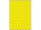 Yellow polyester laser labels, 24mm diameter