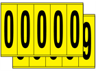 Multipurpose number set, 130mm x 45mm