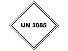 UN 3085 (Oxidizing solid) label.