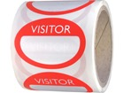 Fabric visitors badges, red