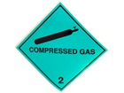 Compressed gas 2 hazard warning diamond sign