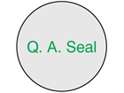 Q. A. Seal label