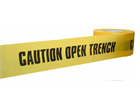 Caution open trench barrier tape