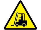 Warning forklift trucks sign