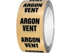 Argon vent pipeline identification tape.
