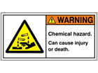Warning chemical hazard label