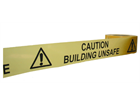 Caution unsafe building barrier tape