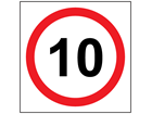Site Sign - 10 MPH Speed Limit - Non-Reflective