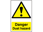 Danger, Dust hazard safety sign.