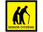Senior citizens sign