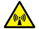 Non-ionizing radiation warning symbol label.