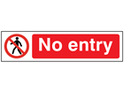 No entry, mini safety sign.