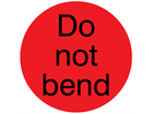 Do not bend packaging label